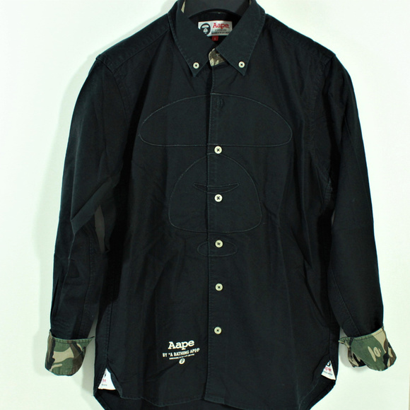 b92e6ebc Bape Shirts | Aape By A Bathing Ape Plaid Collared Stitched | Poshmark